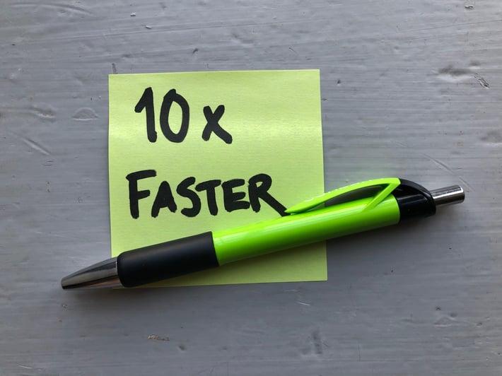 Post it_10 x faster