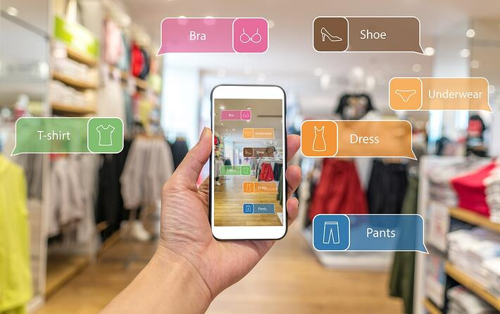 Shopping visualizing the result of app adding